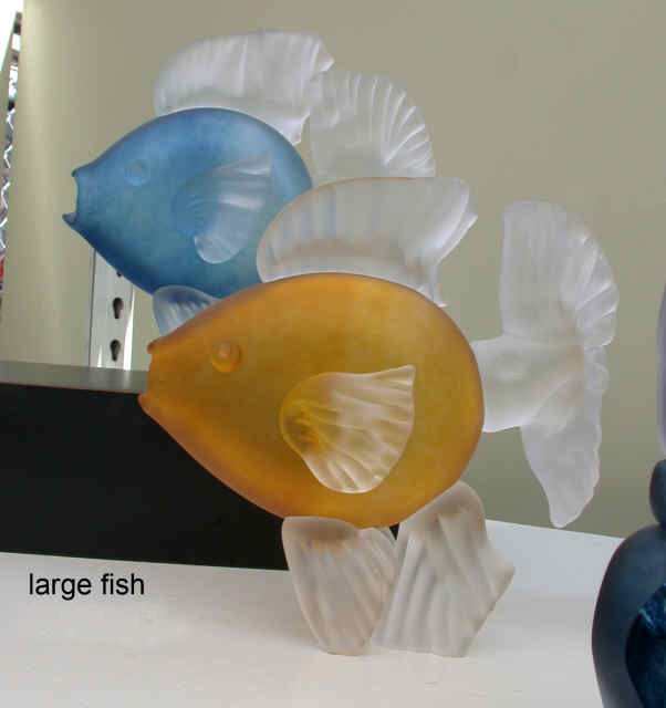 Two Large Glass Fish