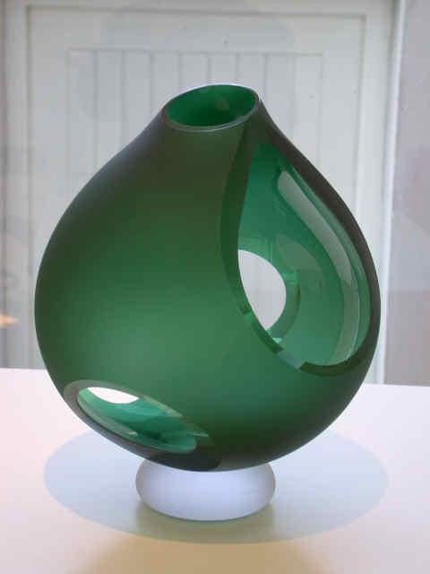 Green Cut Vase