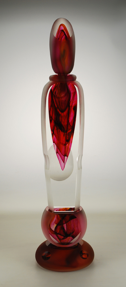 Large Red Perfume Bottle